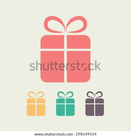 Gift box �¢?? Vector icon