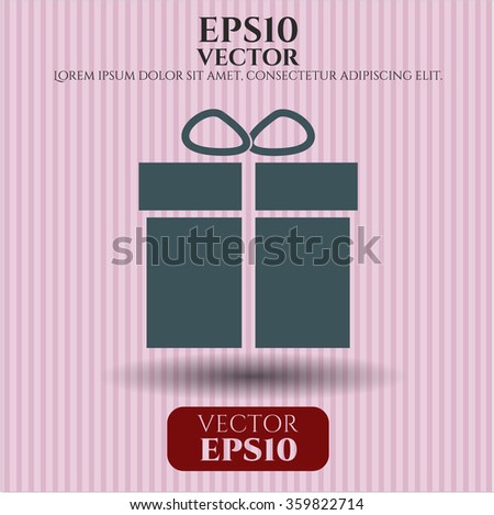 Gift box vector icon or symbol