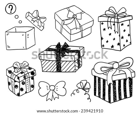 Gift Boxes - stock vector