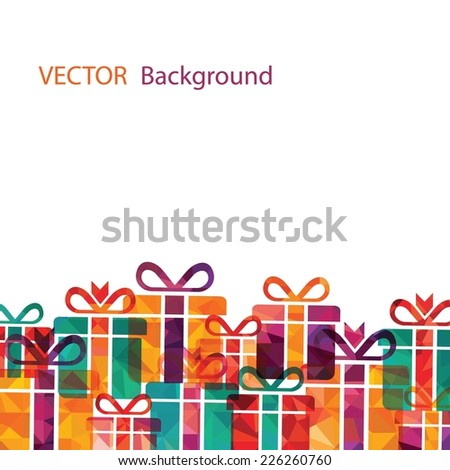 gift boxes background - stock vector