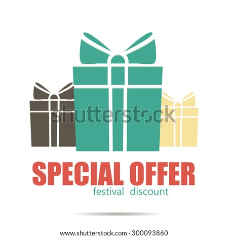Gift boxes. Flat design. - stock vector