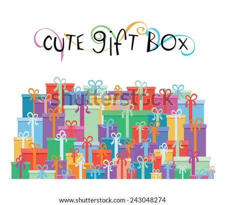 Gift boxes for your promotion design - vector illustration - stock vector