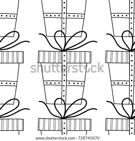 Gift Boxes Decors Ornaments Coloring Books Stock Vector 728745070 ...