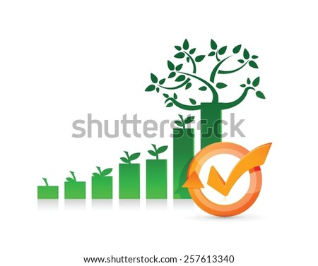 gift card check mark cycle illustration design over white - stock vector