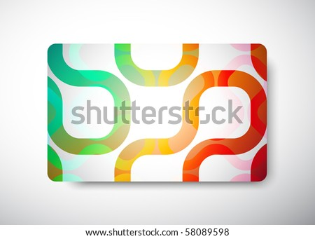 "gift card - size 3 3/8"" x 2 1/8""  (86 x 54 mm) - stock vector"