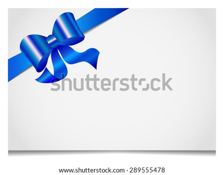 Gift cards and invitations with ribbons - stock vector