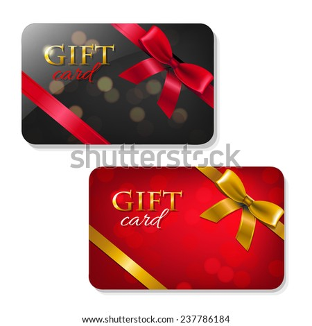 Gift Cards Big Set With Gradient Mesh, Vector Illustration - stock vector