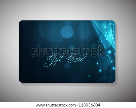 Gift cards. EPF 10. - stock vector
