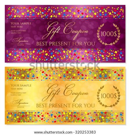 Bonus card coupons