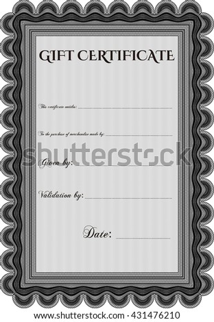 Gift certificate. Detailed. With background. Cordial design.  - stock vector