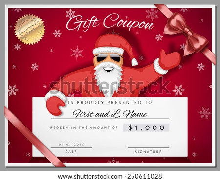 Christmas Gift Certificate Photos RoyaltyFree Images – Santa Gift Certificate Template