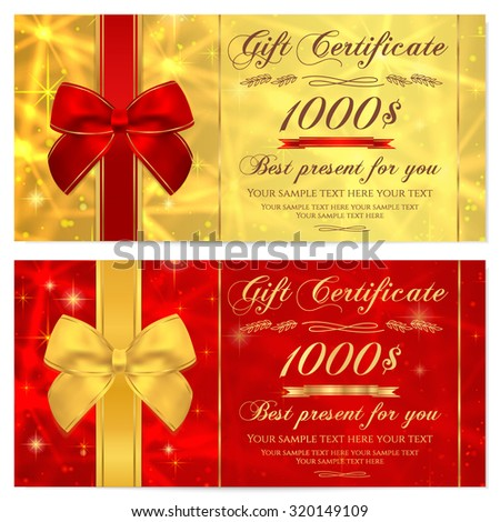 Gift certificate voucher coupon invitation gift stock for Gift certificate template with logo