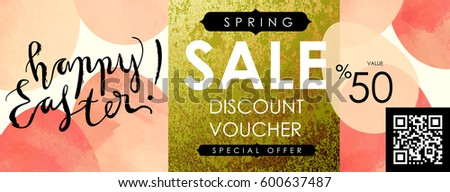 Easter shopping stock images royalty free images vectors gift certificate voucher coupon template with festive eggs and shabby gold texture spring negle Gallery