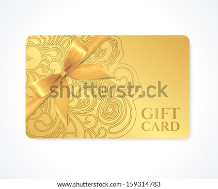 Gift card design stock images royalty free images vectors gift coupon gift card discount card business card with floral scroll negle Gallery