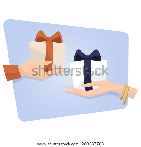 Gift exchange stock images royalty free images vectors gift exchange negle Choice Image