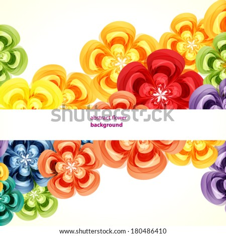Gift floral design background. - stock vector