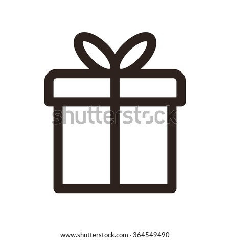 Gift icon isolated on white background - stock vector