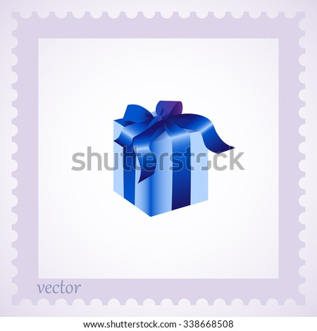 gift isolated - stock vector