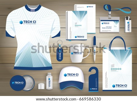 Gift items business corporate identity vector gift items business corporate identity vector abstract color promotional souvenirs design with origami elements for negle Choice Image
