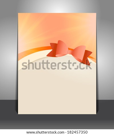 Gift poster and vector background with ribbon - stock vector