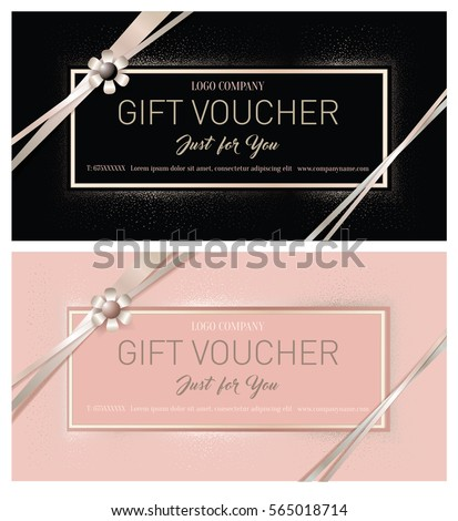 free beauty gift voucher template - coupon stock images royalty free images vectors