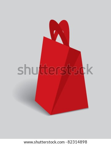 gift pyramided boxes - stock vector