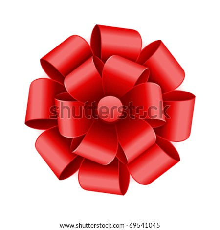 Gift red bow vector background