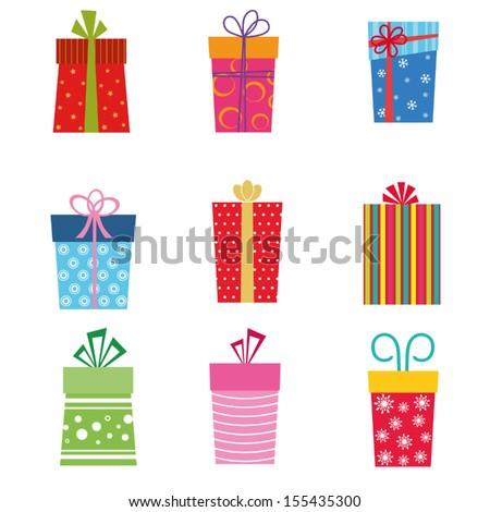 gift set - stock vector