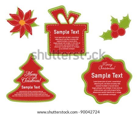 Gift Tags and Labels - stock vector