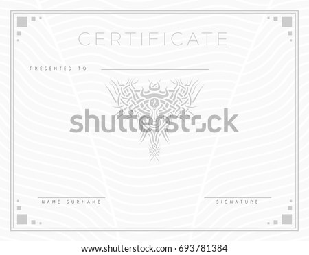 Collection frames certificates diplomas de jdrv sur shutterstock gift vector certificate diploma award template with border and celtic pattern strips and yadclub Images
