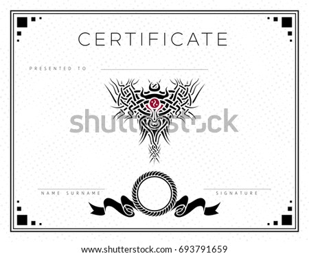 Gift vector certificate diploma award template stock vector gift vector certificate diploma award template with border and celtic pattern strips and yadclub Images