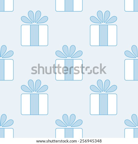 Gift vector seamless pattern. 8EPS.