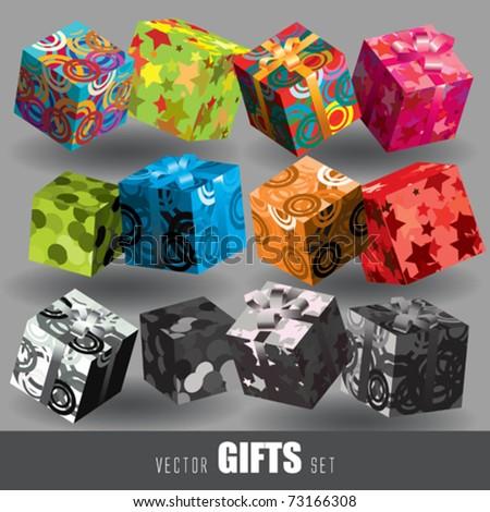 Gift. Vector Set - stock vector