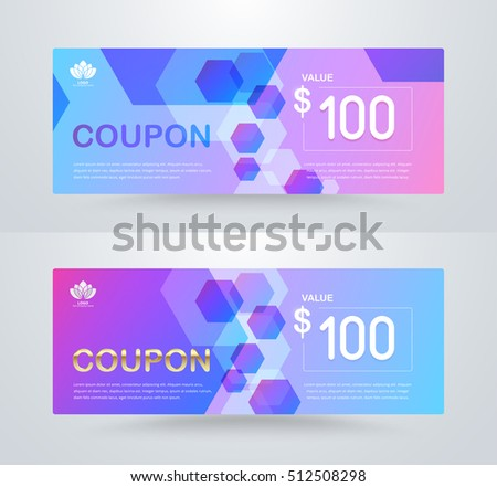 Gift Voucher Template Promotion Card Coupon Vector 328915868 – Voucher Card Template