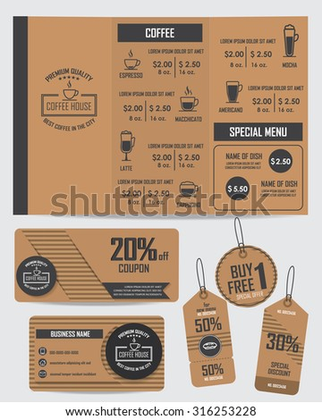 free meal coupon template - creative menu design stock vector 563673193 shutterstock