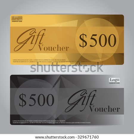 gift voucher certificate coupon template, can be use for business shopping card, customer sale and promotion, layout, banner, web design. vector illustration - stock vector