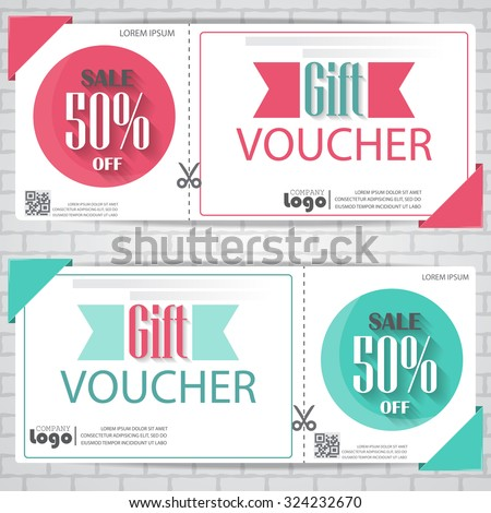 Gift Voucher Certificate Coupon Template Cute Stock Vector 324232670