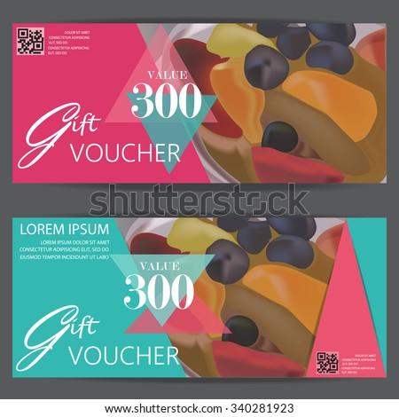 Gift Voucher Certificate Coupon Template Modern Stock Vector HD ...