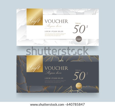 Gift Voucher discount template with luxury pattern. Vector illustration.