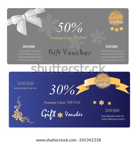 gift certificate template with logo - gift certificate voucher coupon template sparkling stock