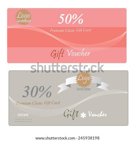 Gift Certificate Voucher Coupon Reward Gift Vector 320253389 – Template for Voucher