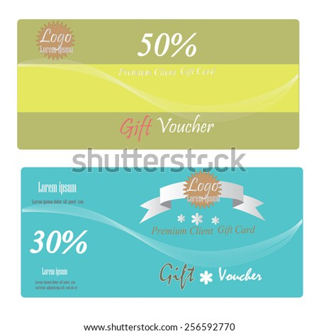 Gift Voucher Gift Certificate Coupon Template Stock Vector (Royalty ...