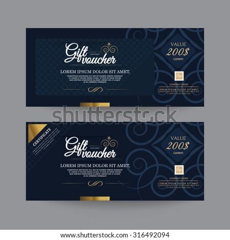 Gift Voucher Premier Color - stock vector