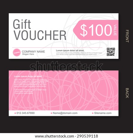Gift Voucher template - stock vector