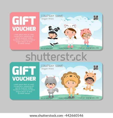 Gift voucher template modern pattern child stock vector 442660546 gift voucher template and modern pattern child concept voucher template with premium pattern yelopaper Image collections