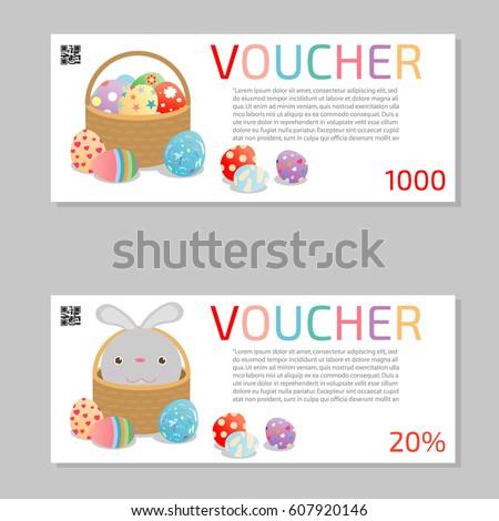 Gift voucher template modern pattern voucher stock vector gift voucher template and modern pattern voucher template template with colorful pattern easter bright negle Images