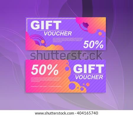 Voucher Template Gift Sale Voucher Certificate Vector – Coupon Voucher Template