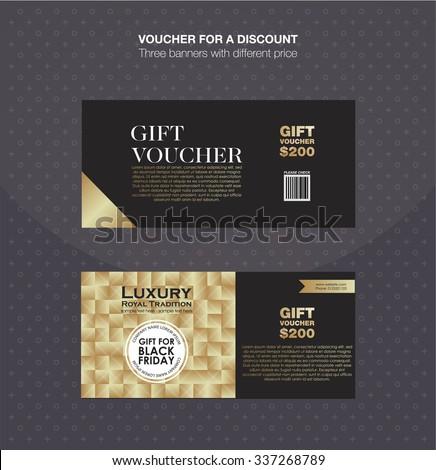 Gift Voucher Template Discount Card Cash Stock Vector 337268789 ...