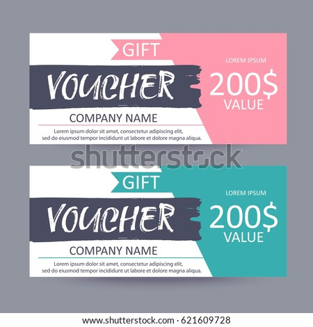 Gift voucher coupon template flat design stock vector 428607235 gift voucher template discount certificate gift card design colorful coupon yadclub Choice Image