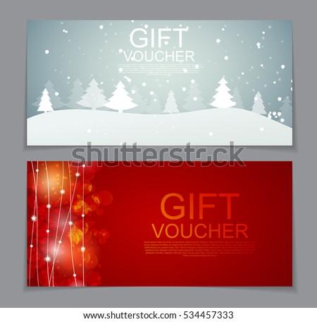 Christmas Voucher Images RoyaltyFree Images Vectors – Christmas Voucher Templates Free